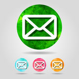 Set of abstract geometric email button icon Royalty Free Stock Image