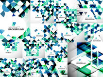 Set of Abstract Geometric Flyer Templates Royalty Free Stock Photo