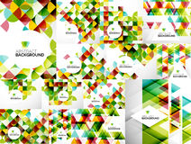 Set of Abstract Geometric Flyer Templates Stock Image