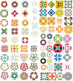 Set of abstract geometric icons / shapes. Can be used for vintage backgrounds / patterns Stock Image