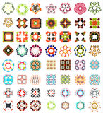 Set of abstract geometric icons / shapes Stock Images