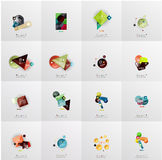 Set of abstract geometric infographic banner Royalty Free Stock Photography