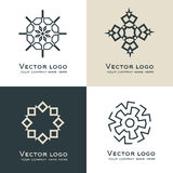 Set of  abstract geometric logo. Celtic, arabic style. Sacred geometry icon. Identity design. Set of  abstract geometric logo. Celtic, arabic style. Sacred Royalty Free Stock Photos
