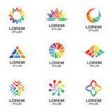 Set of Abstract Geometric Logos for Business Company Stock Image
