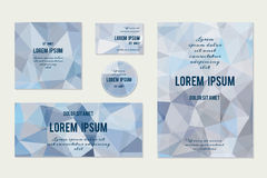 Set of Abstract Geometric Polygonal Backgrounds. Vector Illustration Royalty Free Stock Photos