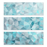 Set of Abstract Geometric Polygonal Backgrounds Stock Photography