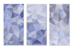 Set of Abstract Geometric Polygonal Backgrounds. Vector Illustration Stock Photo