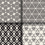 Set of abstract geometric seamless patterns. Design Stock Photography
