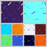 Set of geometric seamless patterns Stock Images