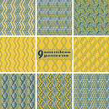 Set of abstract geometric seamless patterns Royalty Free Stock Photography