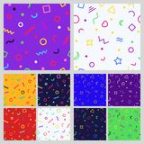 Set of geometric seamless  Royalty Free Stock Images