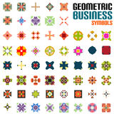 Set of abstract geometric shape icons Royalty Free Stock Photography