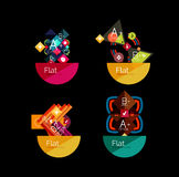 Set of abstract geometric shapes with options Stock Photo