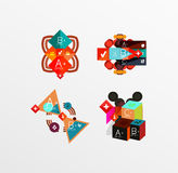 Set of abstract geometric shapes with options Stock Image