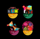 Set of abstract geometric shapes with options Royalty Free Stock Photography