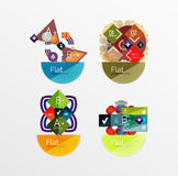Set of abstract geometric shapes with options Royalty Free Stock Images