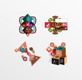 Set of abstract geometric shapes with options Royalty Free Stock Photos