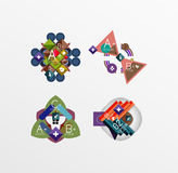 Set of abstract geometric shapes with options Stock Photography