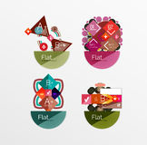 Set of abstract geometric shapes with options Stock Photos
