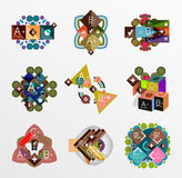 Set of abstract geometric shapes with options Royalty Free Stock Photo