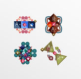 Set of abstract geometric shapes with options Stock Images