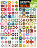 Set of abstract geometric shapes Royalty Free Stock Images