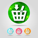 Set of abstract geometric spherical shopping basket icons  from Royalty Free Stock Image