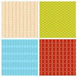 Set of 4 abstract geometrical ethnic seamless pattern. Royalty Free Stock Image
