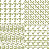 Set of an abstract geometrical seamless pattern Royalty Free Stock Images