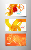 Set of abstract gift cards. Royalty Free Stock Photos