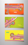 Set of abstract gift cards. Stock Photos