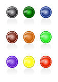 Set of abstract glass buttons Royalty Free Stock Photos