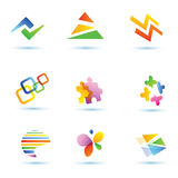 Set of abstract globe  icons Royalty Free Stock Images