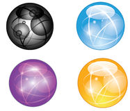 Set of abstract globe. Set of  abstract globe isolated on white background Royalty Free Stock Photography