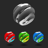 Set of Abstract Globe Logo Elements. Royalty Free Stock Images