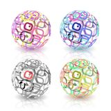 Set of abstract globes made from retro rectangles. Stock Images