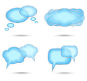 Set of abstract glossy speech bubble Stock Photo