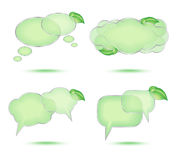 Set of abstract glossy speech bubble Stock Photography
