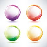 Set of abstract glosy circles Stock Photos