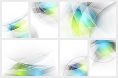 Set of abstract glowing background with space for your content. stock illustration