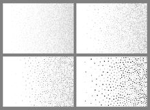 Set of Abstract Gradient Halftone Dots Backgrounds. A4 paper size, vector illustration.  vector illustration