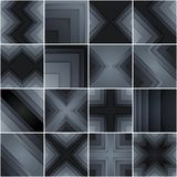 Set of abstract gray and black rectangle shapes Royalty Free Stock Images