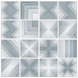 Set of abstract gray and black rectangle shapes Royalty Free Stock Photos
