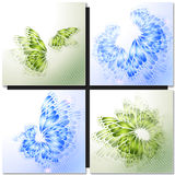 Set of Abstract green backgrounds Stock Images