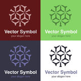 Set of abstract green, red, blue and black white logo design, emblems for various centers - circles, rounded symbols Stock Image