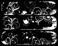 Set abstract grunge banners Stock Image