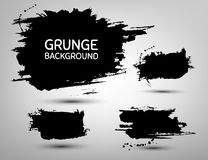 Set of abstract grunge blob background. Stock Photo