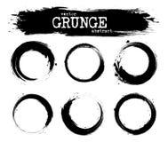 Set of abstract grunge circle shapes . Vector.  stock illustration