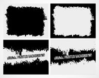 Set of abstract grunge frame texture background Stock Photos