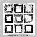 Set abstract grunge frames. Vector backgrounds. Vector illustration. Abstract grunge background. Design elements Stock Photo
